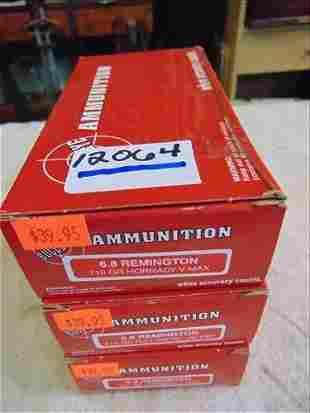 3 Bullseye Ammunition 6.8 Remington 110 Gr Hornady
