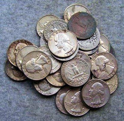Roll Washington Quarters - Various Dates