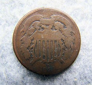 1864 2 Cents Piece
