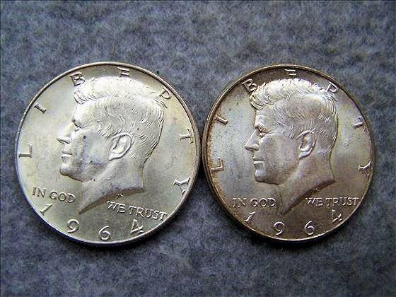 2 1964 Kennedy Silver halves