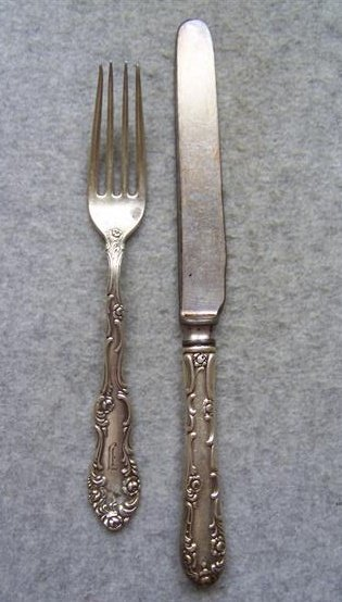 Sterling Silver Fork and Knife