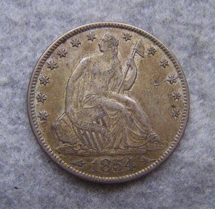 1854 Liberty Seated Half Dollar