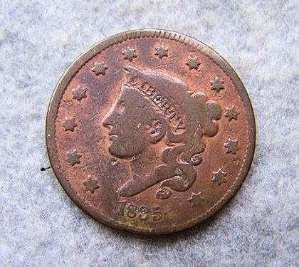 1835 Matron Head Large Cent