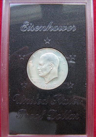 1972S Proof Eisenhower 40% Silver Dollar