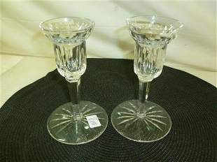 Pair Waterford crystal Alana pattern candle holders