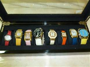Box of ladies watches-8 pc- all different-Joan