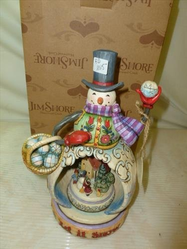 Jim Shore- Heartwood Creek- Snowman-musical -lighted