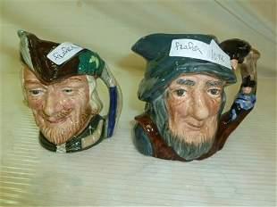 2 Royal Doulton Toby mugs- Robin Hood&Rip Van Winkle