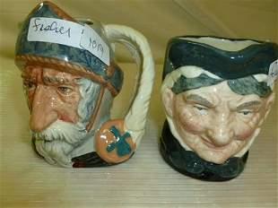 2 Royal Doulton Toby mugs- Don Quixote and Granny