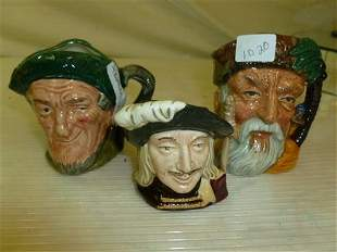 3 Royal Doulton Toby mugs-auld Mac,Robinson