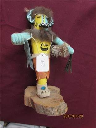 """American Indian Kachina Doll Hotto by R. Yazzie 9 1/4"""""""