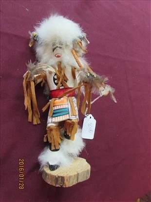"""American Indian Kachina Doll Buffalo by VG 8 3/4"""""""
