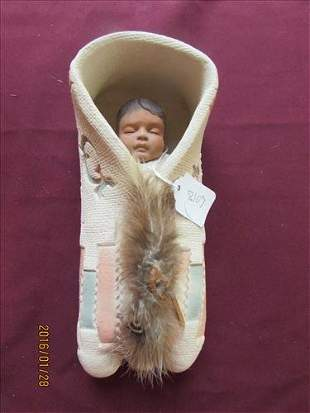American Indian Ceramic Papoose by Simapan #887 of 1200