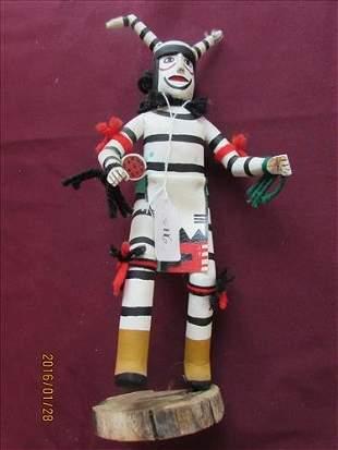 American Indian Kachina Doll Hanoi Clown Kachina by R