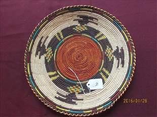 "American Indian Hand Made Basket 12"" diameter"