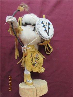 American Indian Kachina Doll - Buffalo Warrior By