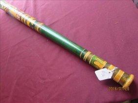 American Indian Hand Carved Baseball Bat Nice Colors