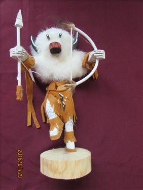 "American Indian Kachina Doll - Buffalo #4021/609 Et 10"""