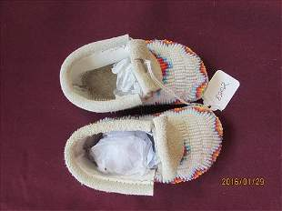 American Indian Fully Beaded Baby Moccasins