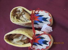 American Indian Beaded Children's Moccasins