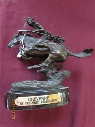 "Bronze Statue ""Cheyenne"" by Frederic Remington 8 1/2"""