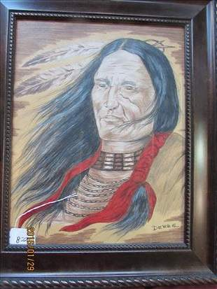 """Artwork by Debbie done in Colored Pencil Framed 18"""" x"""
