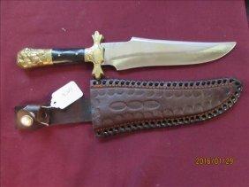 Chipaway Cutlery Pakistan Knife - In Leather Sheath