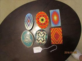 3 Beaded Belt Buckles And 3 Misc. Belt Buckles