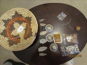 Beads, Cougars, Medallions, Buckle, Arrow Heads &