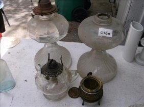 Clear Glass Hurricane Oil Lamp Parts