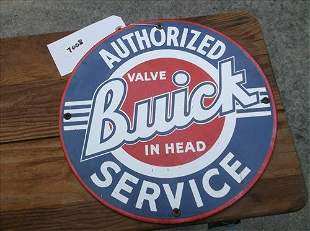 ENAMELED METAL SIGN-BUICK SERVICE