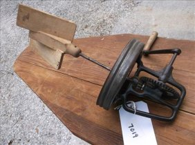 Vintage Butter Churn W/wood Paddle & Handle