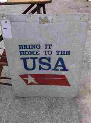 """BRING IT HOME TO THE USA"""" BIG TRUCK MUDFLAP 24"""" X 30"""