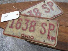 2 License Plates-ohio 1978