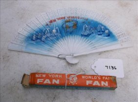 World's Fair New York 1965 Plastic Souvenier Fan