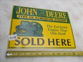 "John Deere Sign 9 1/4"" X 13"""