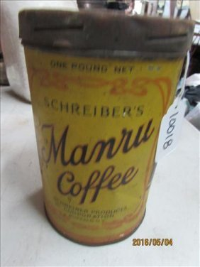 1923 Schreiber 6 1/2 Manual Coffee Can