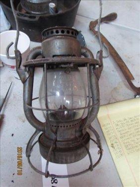 "Nycs Dietz Glass Globe Vesta Ny Usa 10"""