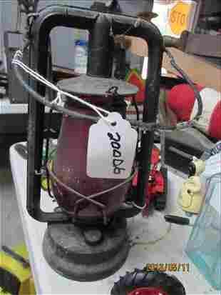 Railroad Lantern Dietz Red Globe 13 1/2