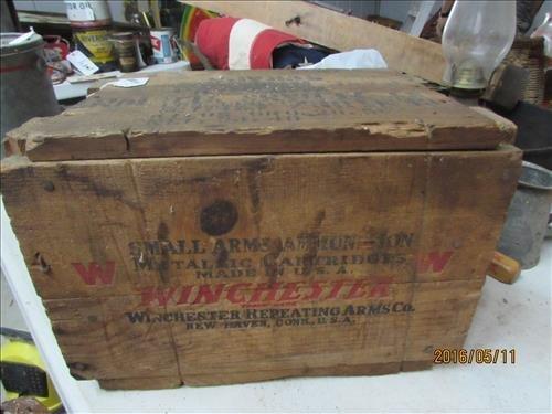 Winchester Ammo Wood Box 3793 5 13 9x9