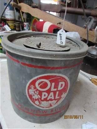 OLD Pal Brand Name Minnow Bucket 9x9 1/2