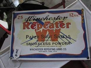 """Porcelain Winchester Sign 8x12"""""""