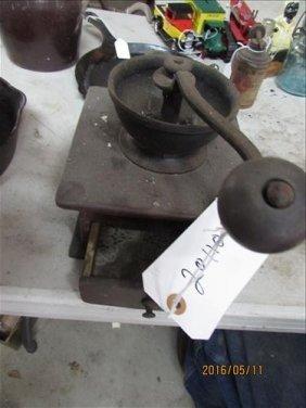 Vintage Coffee Grinder Wood & Metal