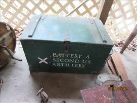 Wood Chest Military Battery A 2nd Us Artillery