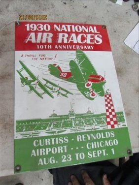 1930 National Air Races Sign 14x10""