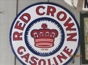 Red Crown Gasoline Sign Pat Oct 12 1915 25 1/2""
