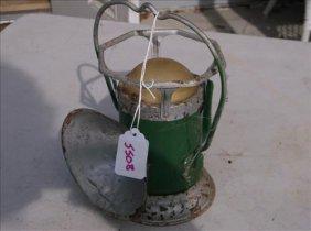 """Old Delta Powerlite Railroad Lantern 8 3/4""""h"""