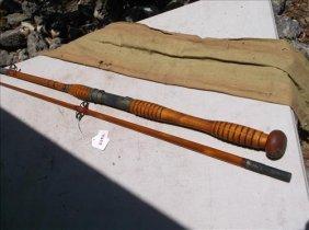 "J. Higgens 2 Pc. 3068 Bamboo Fishing Rod 68""l"