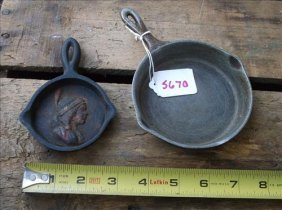 2 Small Skillets-super Maid Cook Ware&j Wright Indian