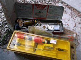 Outers Rifle Cleaning Kits-1 Is Tin Box-peices Missing?